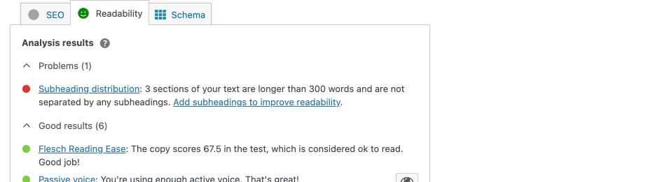 Yoast Readability Checks